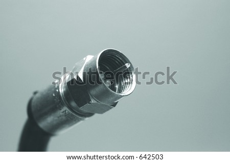 coax cable tip - stock photo