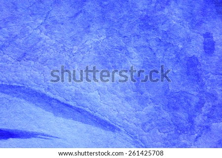 Cobalt Blue Hue Watercolor Background 9 - stock photo