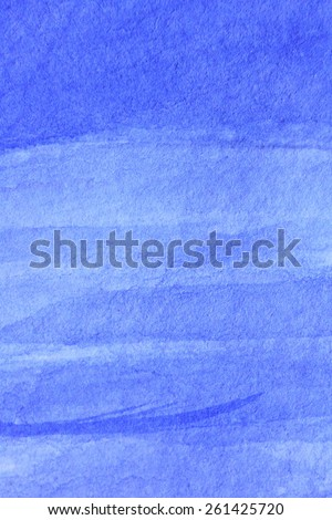 Cobalt Blue Hue Watercolor Background 4 - stock photo