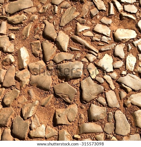 Cobble stone texture - stock photo