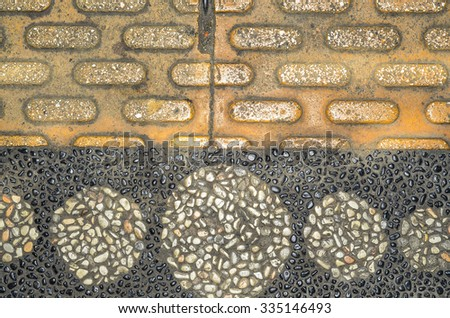 Cobblestone background comes in many designs and sizes, colors and shapes / Abstract background / Ideal for parks, streets,alleys, markets and boulevards