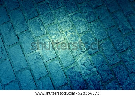 Cobblestone floor, detail of a pedestrian land in the city