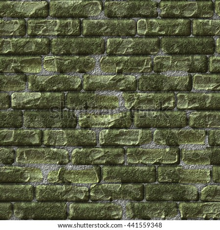 Cobblestone path bricks with wear and tear. Digital artwork creative graphic design. 3D rendering. - stock photo