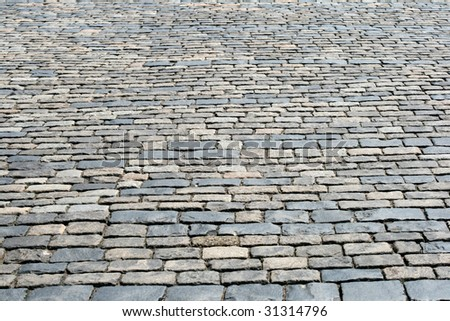 Cobblestone pavement at Red Square, Moscow, Russia - stock photo