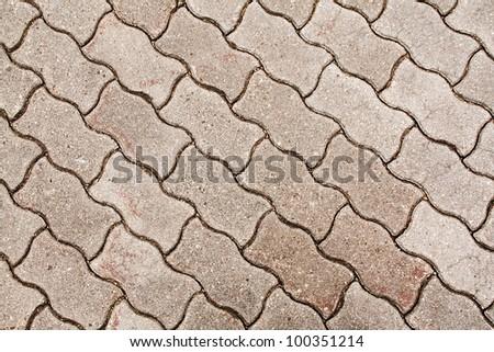 cobblestone pavement - fragment close up - stock photo