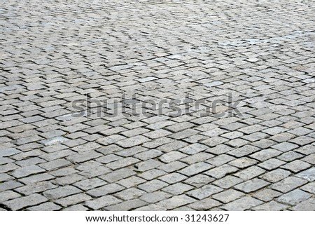Cobblestone pavement, Red Square, Moscow, Russia - stock photo