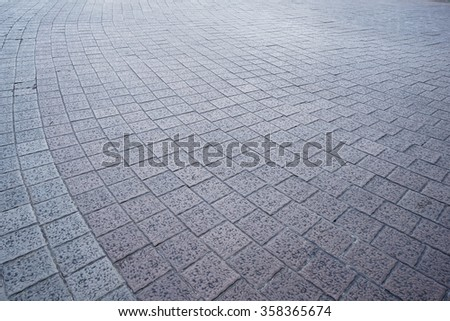 Cobblestone Pavement Texture, Radial Pattern, Rustic Background Pattern Copy Space - stock photo