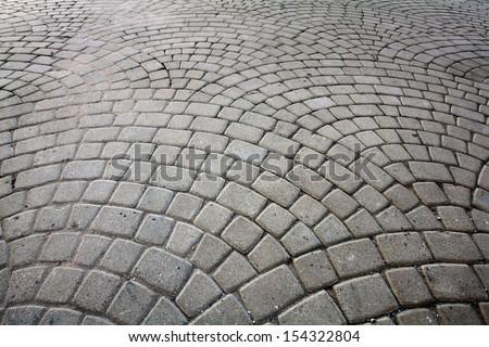 cobblestones - stock photo