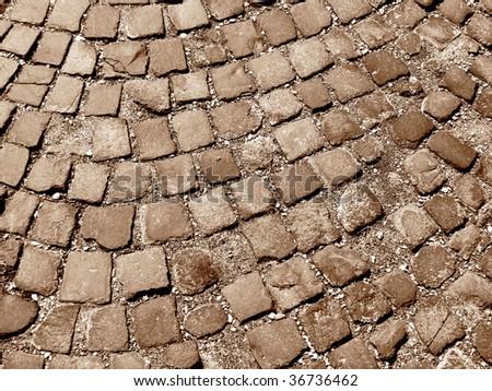 cobblestones background - stock photo