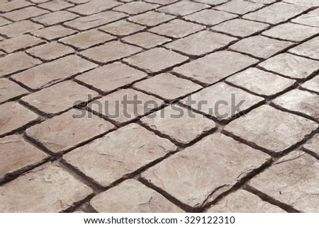 cobblestones floor,texture - stock photo