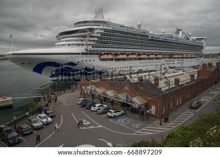 Cobh Ireland May Cruise Ship Stock Photo - Cruise ship ireland