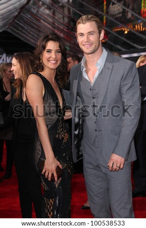 "Cobie Smulders, Chris Hemsworth at the ""Marvel's The Avengers"" Los Angeles Premiere, El Capitan Theatre, Hollywood, CA 04-11-12"