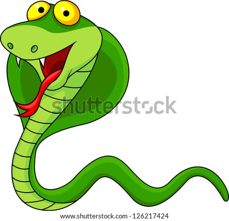 Cobra cartoon - stock photo