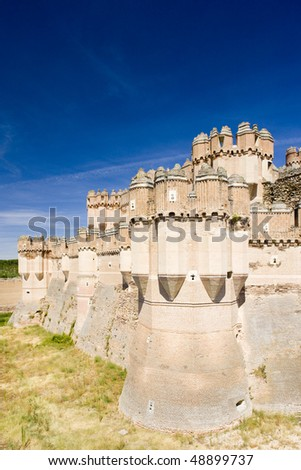 Coca Castle, Segovia Province, Castile and Leon, Spain