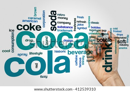 Coca Cola concept word cloud background - stock photo