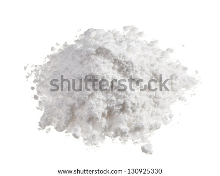 Cocaine drugs heap isolated on white, close up view - stock photo