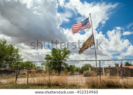 Cochiti Indians reservation in New Mexico, USA - stock photo