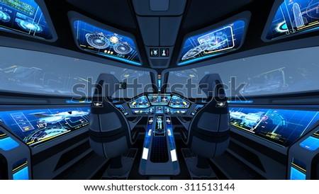 Cockpit - stock photo