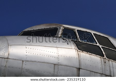 cockpit il 14 airplane - stock photo