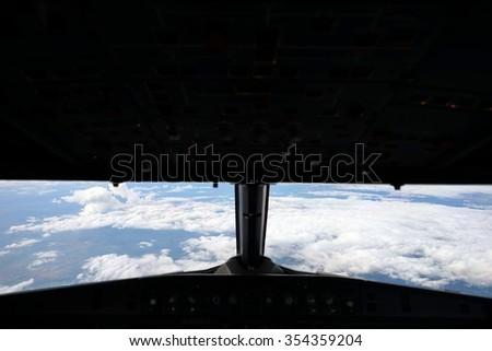 cockpit view - stock photo