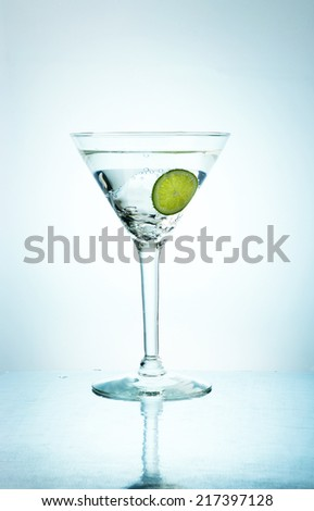 Cocktail alcoholic drink in a glass - stock photo