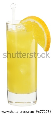 Cocktail bacardi orange - stock photo