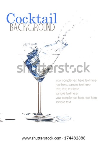cocktail background - stock photo