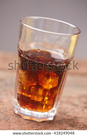cocktail cola with ice