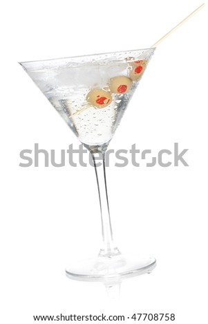 Cocktail collection - Classic martini. Isolated on white background