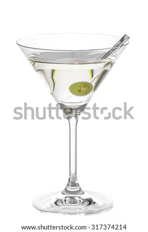 Cocktail DIRTY MARTINI - stock photo
