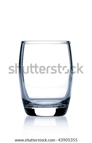 Cocktail Glass Collection - Barrel Shot. Isolated on white background - stock photo