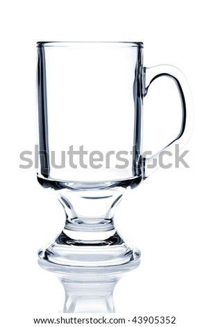 Cocktail Glass Collection - Irish Coffee. Isolated on white background