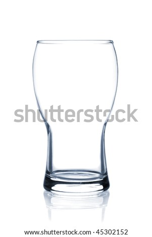 Cocktail Glass Collection - Lager Beer. Isolated on white background - stock photo