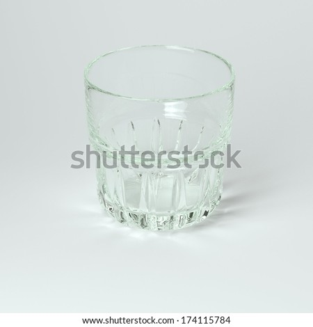Cocktail Glass Collection - Rocks.  On White Background - stock photo