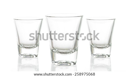 Cocktail Glass Collection - Small Shot. Isolated on white background. - stock photo