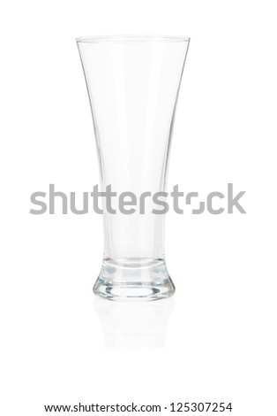 Cocktail glass set. Empty beer glass isolated on white background - stock photo