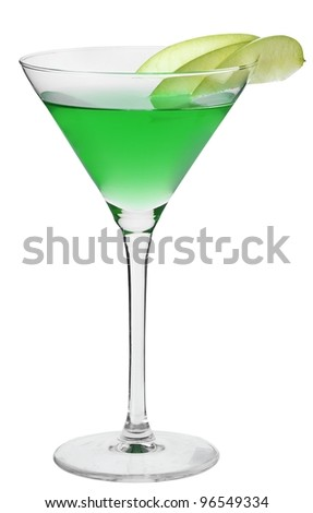 Cocktail Green Apple Cosmo - stock photo