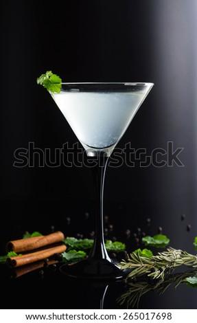 Cocktail in martini glass - stock photo