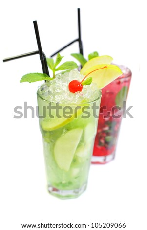 Cocktail isolated on white