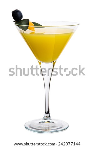 Cocktail. Isolated over white background. - stock photo