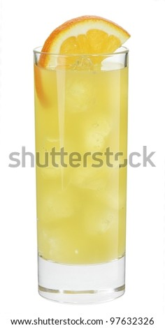 Cocktail malibu mango - stock photo