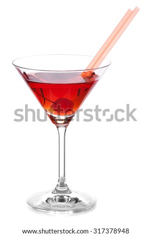 Cocktail MANHATTAN - stock photo