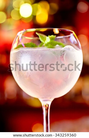 Cocktail Martini Royale - stock photo
