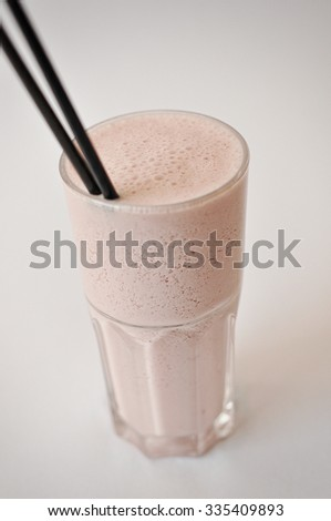 cocktail milk shake isolated on the white background