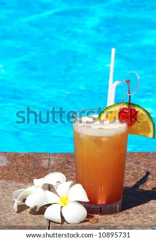 Cocktails Near Swimming Pool Stock Photo 9952972 Shutterstock