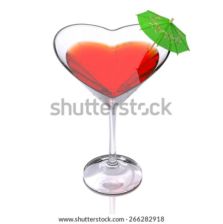 cocktail of love - stock photo