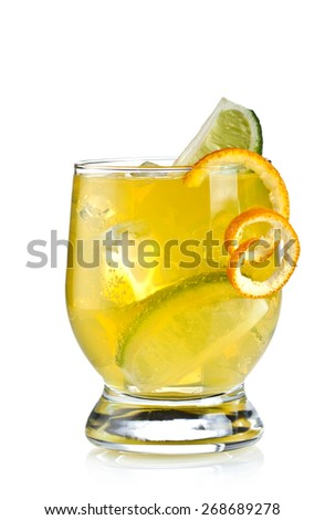 Cocktail on a white background - stock photo