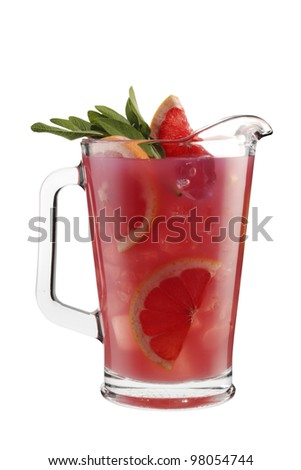 Cocktail pitcher herbal breeze - stock photo