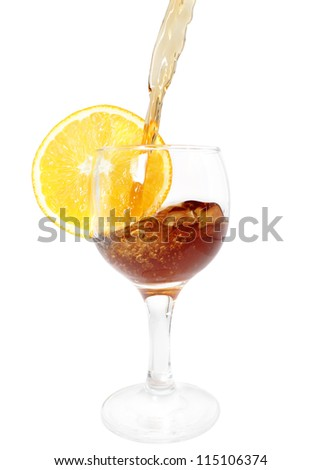 cocktail pour and splash - stock photo