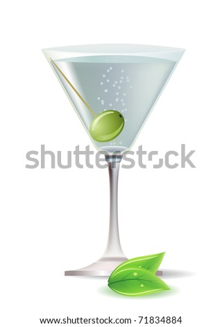 Cocktail. Raster version. Vector version is in my gallery. - stock photo